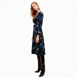 Wilfred | Aritzia Aubagne Floral Midi Skirt Dress